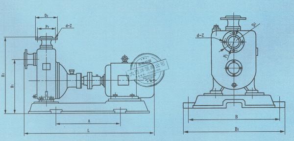 ZX系列自吸泵尺寸图