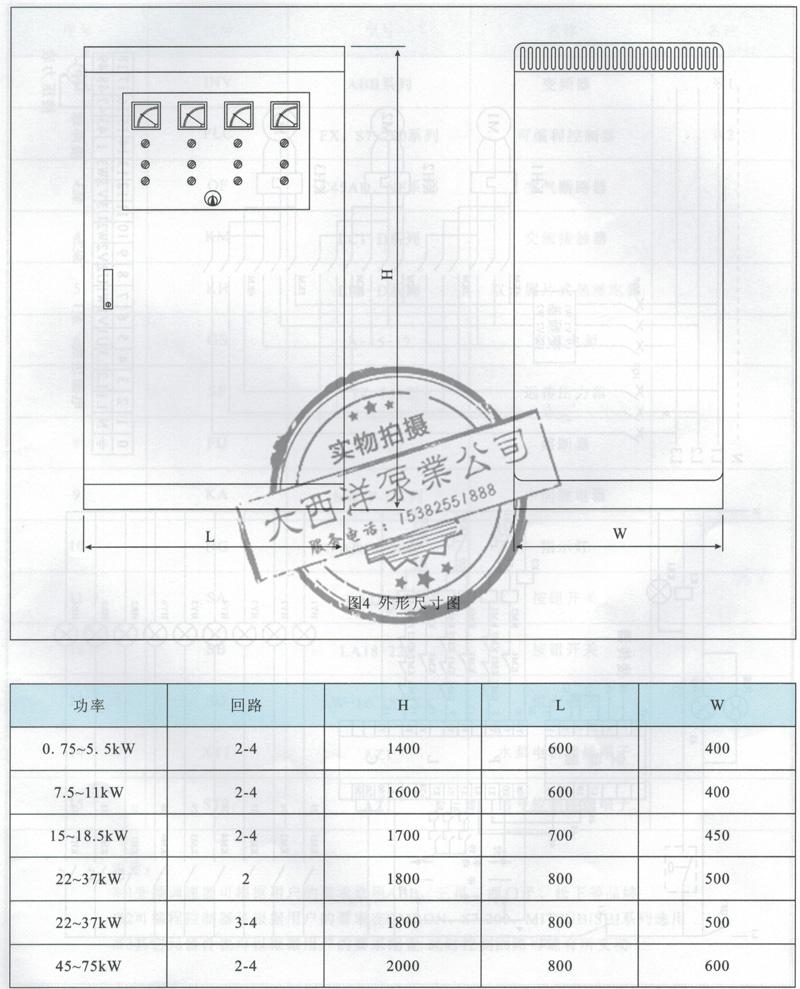 1.5kw 变频器控制柜 abb变频器控制柜