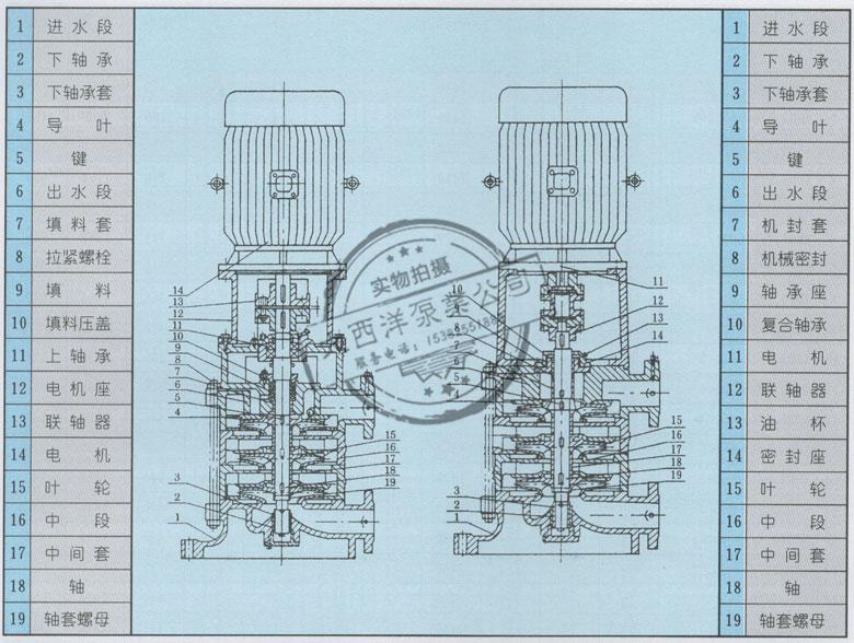 大西洋泵业结构图及说明