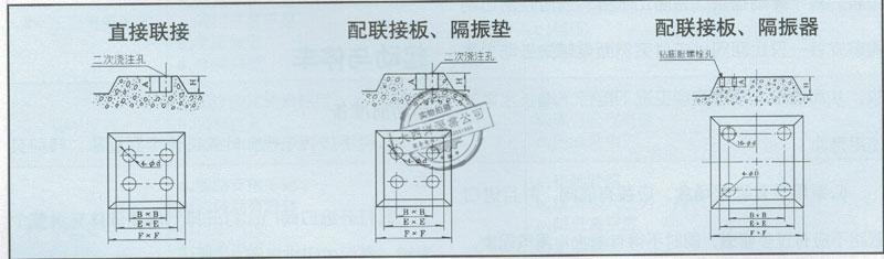 泵基础图及其联接尺寸